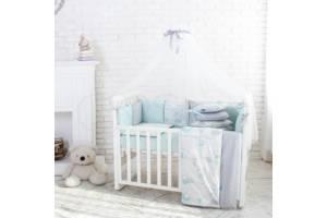 Комплект Baby Design Премиум Зайчики мята