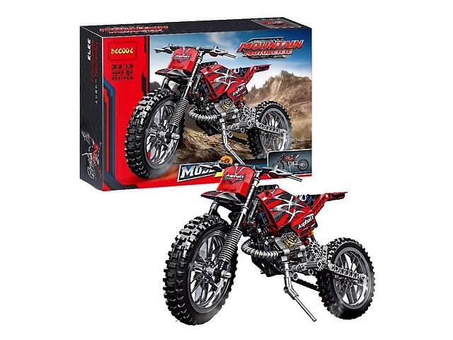 """купить бу Конструктор Decool 3373 """"Горный мотоцикл 2-в-1"""" (аналог Lego Techniс 42007), 253 детали в Дубно"""