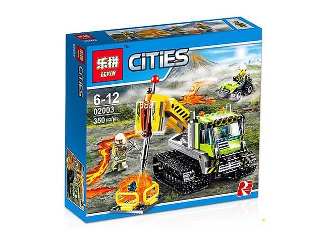 """купить бу Конструктор Lepin 02003 (аналог Lego City 60122) """"Гусеничная машина исследователей вулканов"""", 350 дет в Виннице"""
