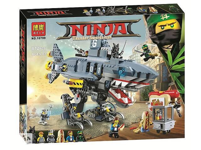 купить бу Конструктор Bela 10799 (аналог Lego Ninjago Movie 70656) Морской дьявол Гармадона 872 детали в Харькове