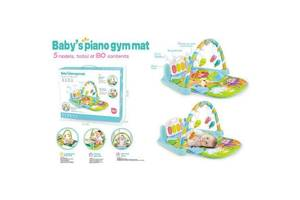 Развивающий коврик для младенца с пианино 9921