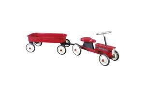 Толокар goki Трактор с тележкой красный (14148G)