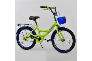 """Велосипед 20"""" дюймов 2-х колёсный G-20424 """"CORSO"""", ручной тормоз, звоночек, мягкое сидение"""