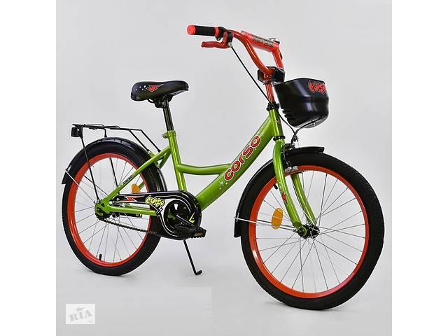 """продам Велосипед 20"""" дюймов 2-х колёсный G-20979 """"CORSO"""", ручной тормоз, звоночек, мягкое сидение бу в Дубно"""