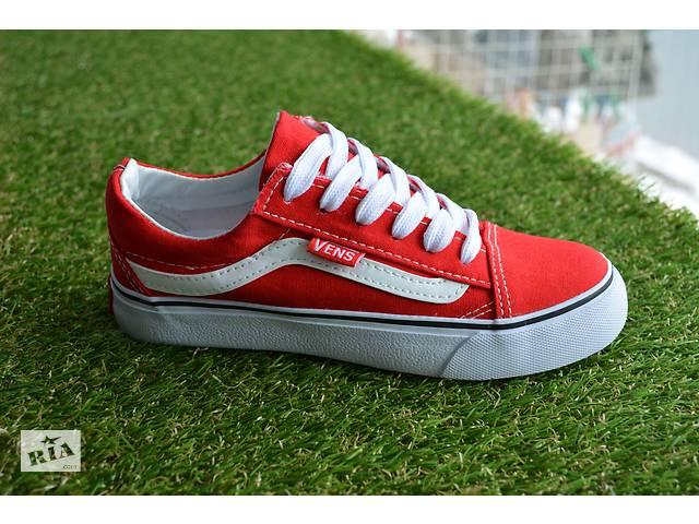 Підліткові дитячі низькі кеди аналог ванс Vans червоні 31-37 ... f94fb0d7e58d7