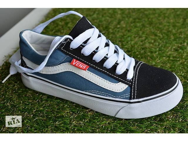 продам Підліткові дитячі низькі кеди аналог Vans ванс сині   чорні 31-37 бу  в c341b011b5cf5
