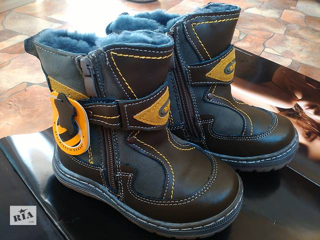 Чоботи зимові черевики дитячі на хлопця Шкіра f62f29a3e3544