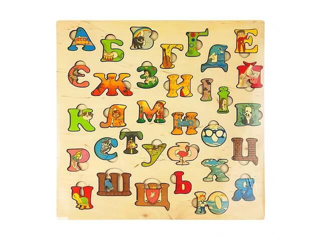 Азбука украинского языка 172093 деревянная