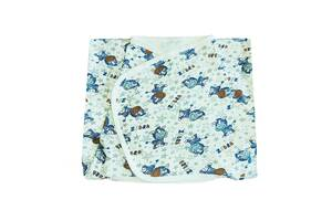 Безразмерная пеленка кокон на липучках интерлок Luna Style 0-24 мес Зебры