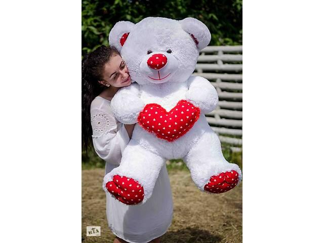 Большой плюшевый мишка Барни с сердцем 140 см! Мягкие игрушки!