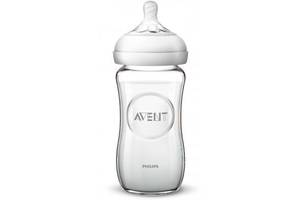 Бутылочка для кормления Philips AVENT Natural 240 мл стеклянная (SCF053/17)