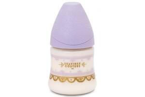 Бутылочка для кормления Suavinex Couture, 150 мл, 0+ фиолетовая (304129)