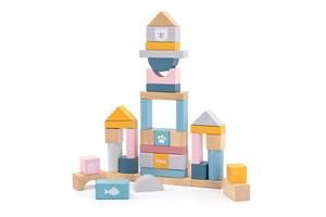Деревянные кубики Viga Toys PolarB Пастельные блоки, 60 шт., 2,5 см (44010)