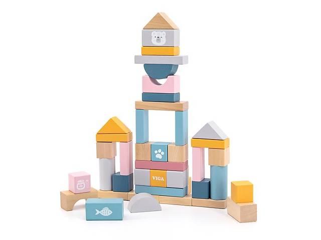 Деревянные кубики Viga Toys PolarB Пастельные блоки, 60 шт., 2,5 см (44010)- объявление о продаже  в Киеве