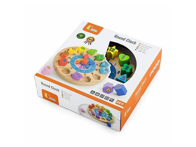 купить бу Деревянный пазл-сортер Viga Toys Часы (59235) в Киеве