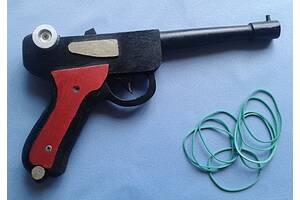 Деревянный пистолет-резинкострел Люгер-парабеллум(ручная работа)