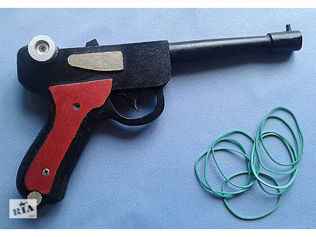 купить бу Деревянный пистолет-резинкострел Люгер-парабеллум(ручная работа) в Обухове