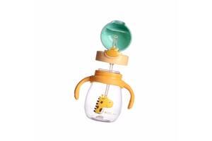 Детская бутылочка с 2 насадками LOVELY BEAR 270 мл Бирюзово-желтый