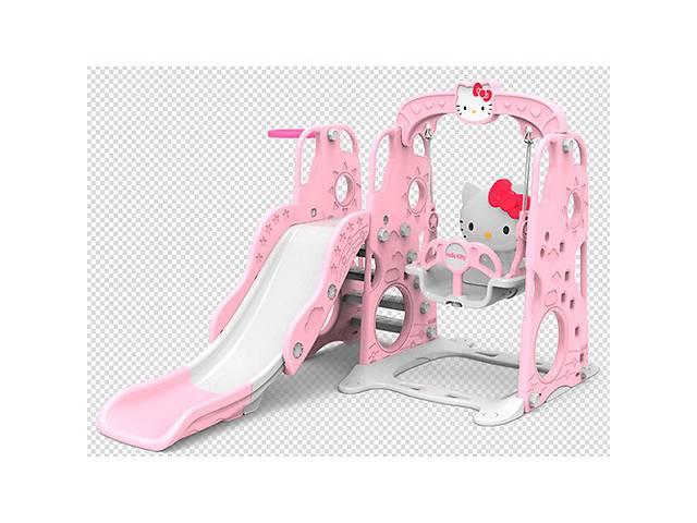 продам Детская горка-качель BAMBI HK5018-2B Hello Kitty баскетбольное кольцо бу в Одессе