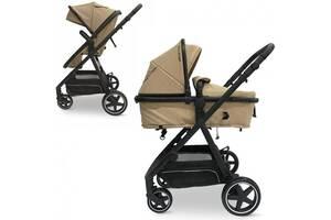 Детская коляска  2 в1 ME 1069 ALLIANCE DENIM BEIGE бежевая