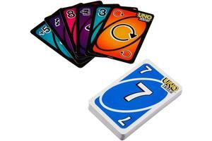 Детская настольная игра карточная от 7 лет UNO Двойная игра Mattel (GDR44)