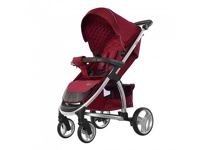 Детская прогулочная коляска CARRELLO Vista CRL-8505  Ruby Red в льне + дождевик