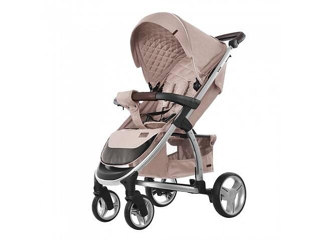 Детская прогулочная коляска CARRELLO Vista CRL-8505 Stone Beige в льне + дождевик