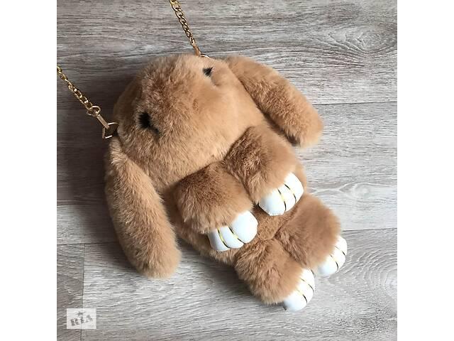 продам Детская сумка рюкзак меховой заяц Коричневый бу в Днепре (Днепропетровск)