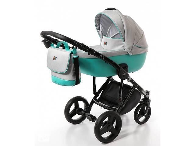 продам Детская универсальная коляска Broco Porto 2 в 1, серо-голубая (7080) бу в Киеве