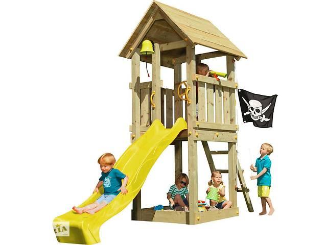 Детская игровая площадка KBT Blue Rabbit KIOSK домик с горкой Желтый