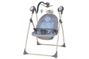 Детское кресло-качалка с мобилем и пультом Alexis Baby Mix SW102, серый