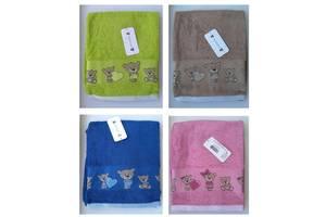 Детское махровое полотенце Кuschelino Мишки 100% хлопок