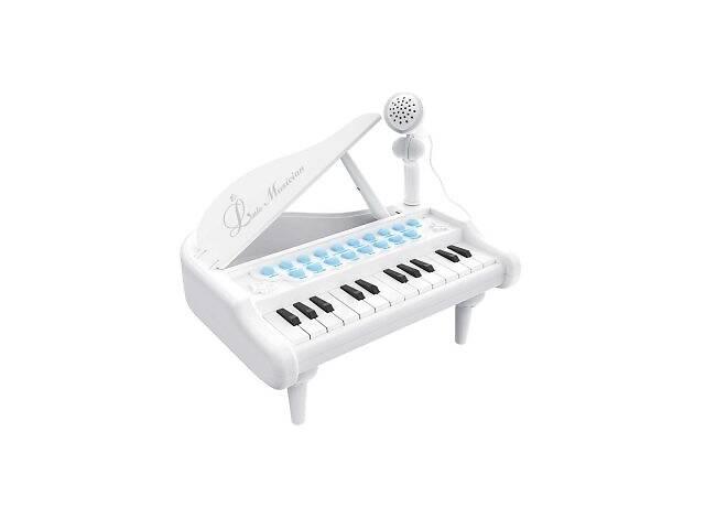 бу Детское пианино синтезатор Baoli с микрофоном 24 клавиши белое SKL17-223458 в Киеве
