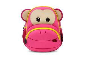 Детский 3Д рюкзак Nohoo Обезьяна 31,5 × 27 × 16 см Малиновый (NH0022-R)