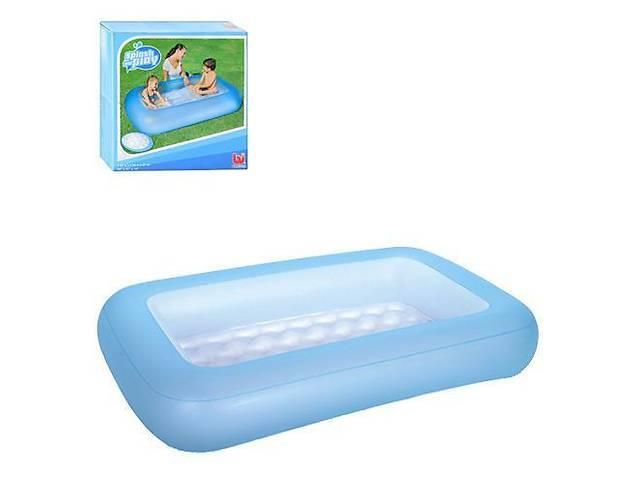 бу Детский бассейн надувной прямоугольный Bestway на 102 литра, синий в Киеве