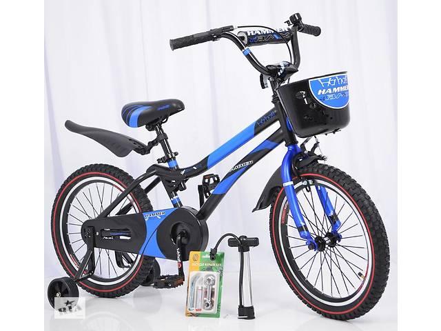 бу Детский двухколесный велосипед HAMMER S500 синий 18 дюймов в Одесі