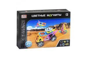 Детский магнитный конструктор Play Smart 2465 Цветные магниты 24 детали