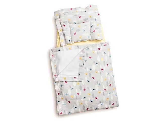 продам Детский муслиновый набор в коляску Twins Birds плед, подушка, наматрасник, multicolor.Подарок новорожденному бу в Киеве
