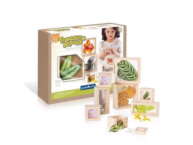 Детский набор деревянных блоков Guidecraft Natural Play Сокровища в ящиках, прозрачный- объявление о продаже  в Киеве