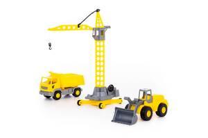 """Детский набор игрушечной строительной техники из пластика Polesie """"Агат"""" (в коробке)"""