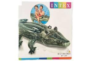 """Дитячий надувний пліт Intex 57551 """"Крокодил"""", 86 на 170 см"""