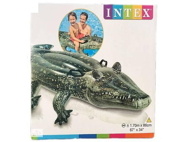 """Детский надувной плотик Intex 57551 """"Крокодил"""", 86 на 170 см- объявление о продаже  в Вишневом"""
