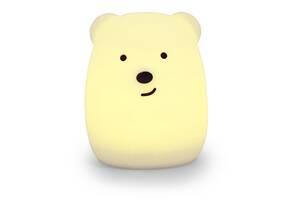 """Дитячий нічник-іграшка Click """"Нічні звірятка"""" Ведмідь 11 см"""