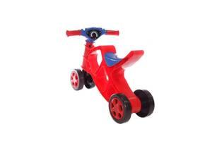 Детский игровой минибайк беговел Doloni Toys музыкальный, красный. Интересные подарки для детей от 1 года