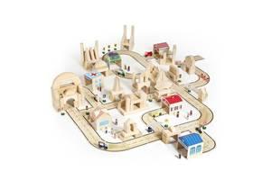 Детский игровой набор фигурок и машин Guidecraft Block Play к Дорожной системе, 36 деталей