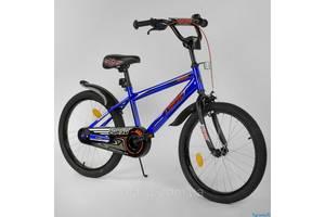 Двухколесный детский велосипед 20 дюймов CORSO EX-20 N 2755 синий