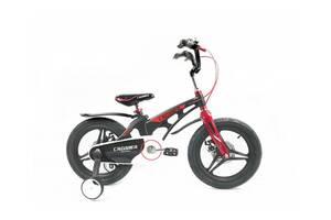 """Двухколесный велосипед Crosser Premium магниевая рама 16"""" Черный (n-612)"""