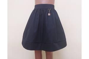 Детская школьная юбочка «Бантик», модель № 39