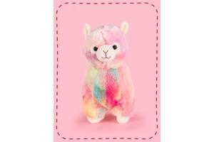 Гламурная детская игрушка плюшевая антиаллергенная Альпака Fancy, 28 см