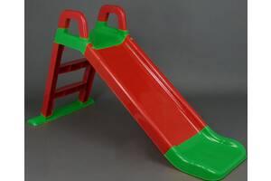 Горка детская Красно-зеленая DOLONI 140 см (0140)